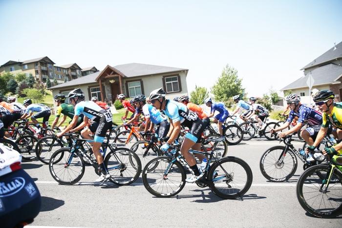 Neighbourhood climbs. 2018 Tour of Utah Stage 3, August 8, 2018, Layton, Utah. Photo by Cathy Fegan-Kim, cottonsoxphotography.net