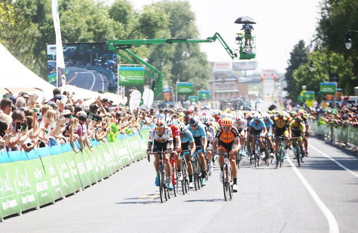 The field. 2018 Tour of Utah Stage 3, August 8, 2018, Layton, Utah. Photo by Cathy Fegan-Kim, cottonsoxphotography.net