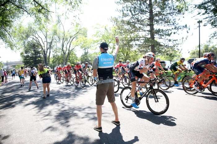 Feed zone! 2018 Tour of Utah Stage 3, August 8, 2018, Layton, Utah. Photo by Cathy Fegan-Kim, cottonsoxphotography.net