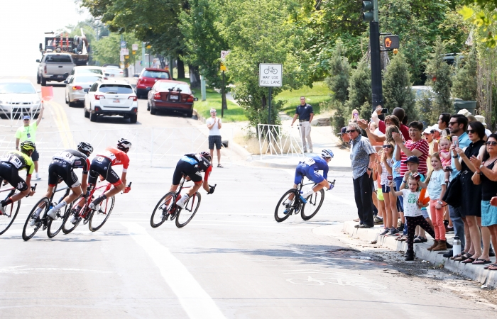 Corner at the end of University Street. 2018 Tour of Utah Stage 4, August 8, 2018, Salt Lake City, Utah. Photo by Cathy Fegan-Kim, cottonsoxphotography.net