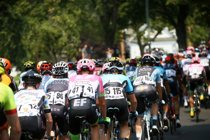 The field. 2018 Tour of Utah Stage 4, August 8, 2018, Salt Lake City, Utah. Photo by Cathy Fegan-Kim, cottonsoxphotography.net