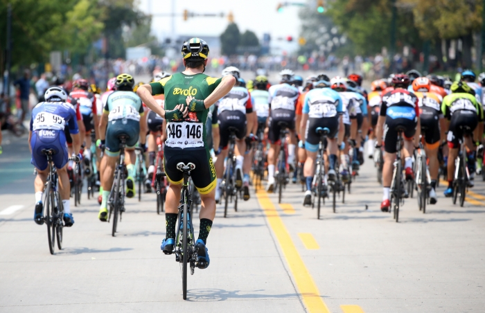 Snack time. 2018 Tour of Utah Stage 4, August 8, 2018, Salt Lake City, Utah. Photo by Cathy Fegan-Kim, cottonsoxphotography.net