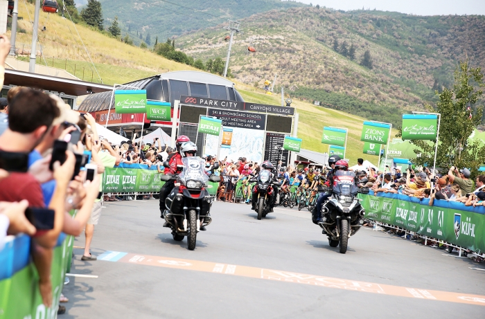 The Queen Stage started at the Canyons Village in Park City, Utah.  Stage 5 of the 2018 Tour of Utah, August 10, 2018. Photo by Cathy Fegan-Kim, www.cottonsoxphotography.net
