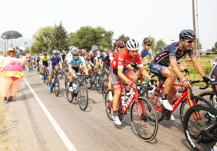 At 0km. Stage 5 of the 2018 Tour of Utah, August 10, 2018. Photo by Cathy Fegan-Kim, www.cottonsoxphotography.net