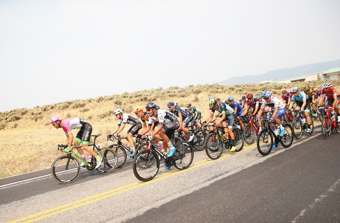 The field had to battle major headwind… Stage 5 of the 2018 Tour of Utah, August 10, 2018. Photo by Cathy Fegan-Kim, www.cottonsoxphotography.net