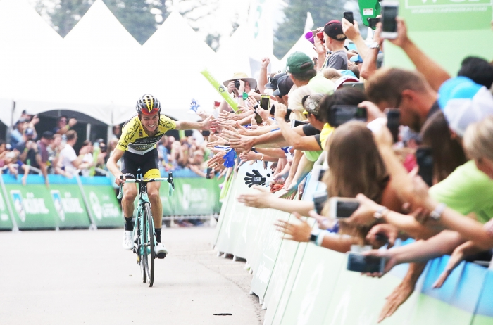 Sepp Kuss wins another stage at the 2018 Tour of Utah. Stage 5 of the 2018 Tour of Utah, August 10, 2018. Photo by Cathy Fegan-Kim, www.cottonsoxphotography.net