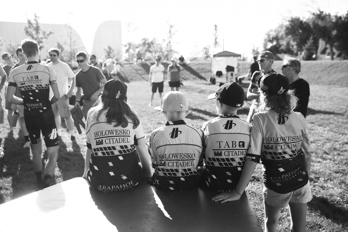 TJ super fans. 2018 Tour of Utah Team Presentation, August 4, 2018, Cedar City, Utah. Photo by Cathy Fegan-Kim, cottonsoxphotography.net
