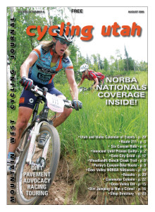 Cover Photo:  Kathy Sherwin (Ford Cycling) rolled to a ninth place finish in the Deer Valley Nationals XC on July 8th. She's shown here leading Dara Marks-Marino (Titus/Kenda). Photo by Dave Iltis, see more photos online at  cyclingutah.com