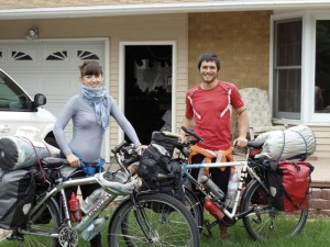 Spanish bicycle tourist in SLC Utah