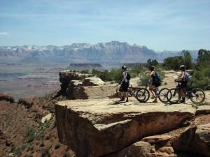 Riders on the Little Creek Mesa Trail near Hurricane, Utah. Photo: Bryce Pratt, crawlingspider.com.