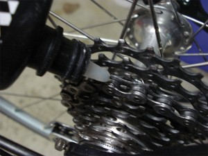 Lubricate icycle cassette