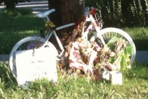 A ghost bike was placed near the location where Brynn Barton was killed.