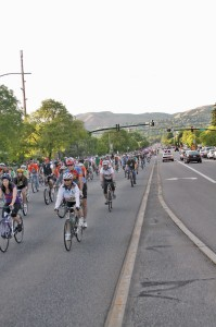 A sea of cyclists rides in solidarity on 700 E.