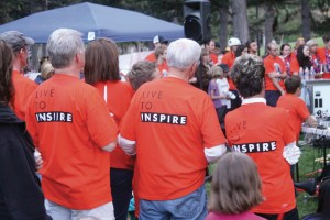 Family, friends and fellow cyclists attended the vigil. Many wore 'Live to Inspire' and Brynnstrong t-shirts in remembrance of Brynn Barton.