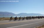 The field rides past Utah Lake. Photo: Cottonsoxphotography.com