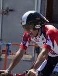 Chase Pinkham at the finish. Photo: Steven Sheffield.