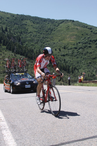 Utah's Chase Pinkham crushing the prologue. Photo by: Dave Iltis