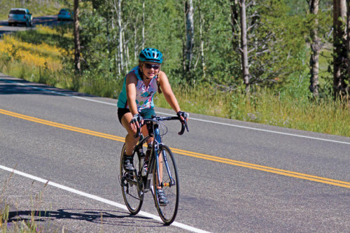 Jessica Orvis, age 12, on her Epic Ride, cycling nearly 500 miles in five days. Photo by: Preston and Colleen Norris.