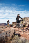 Riders came from across the country to demo bikes and ride Moab's trails and roads.  Photo: Beth Runkle