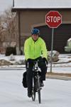 Layne Packer on his Surly Long Haul Trucker commuter bike.