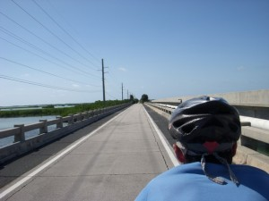 On one of the restored historic bridges in the Lower Keys.