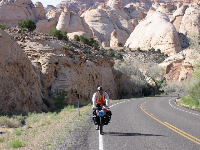Capitol Reef N.P. with Navajo Sandstone domes