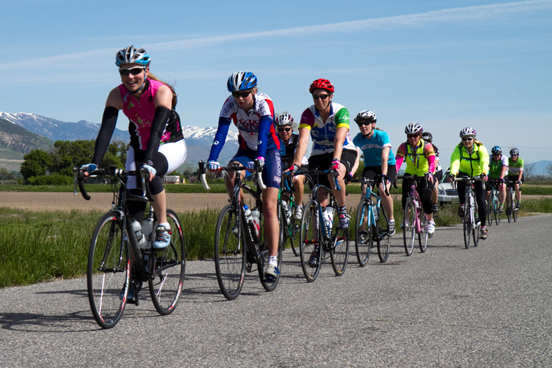 Riders enjoying the roads of Cache Valley in the 2011 Little Red.