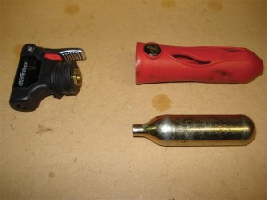 Unthreaded CO2 cartridge with inflator nozzle.