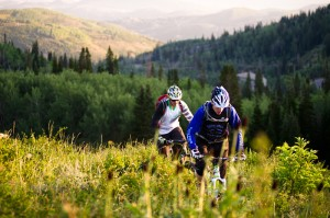 Two rides enjoying the trails of Park City