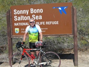Dean Lang on a 38 mile ride in S. California, 8 months after accident.