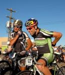 Tim Johnson (Cannondale/CX World) shares a pre race laugh with Tinker Juarez (Cannondale Factory Team)