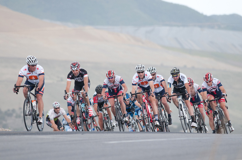 Bissell pro rider Chase Pinkham, third in line, swept all three stages.