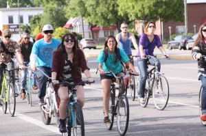 Riders enjoying the afternoon on the May 25, 2012 Critical Mass.