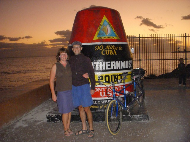 Shelly Roalstad and Martin Cuma enjoy the sunset in Key West.