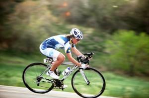 Laura Patten Racing her Bicycle