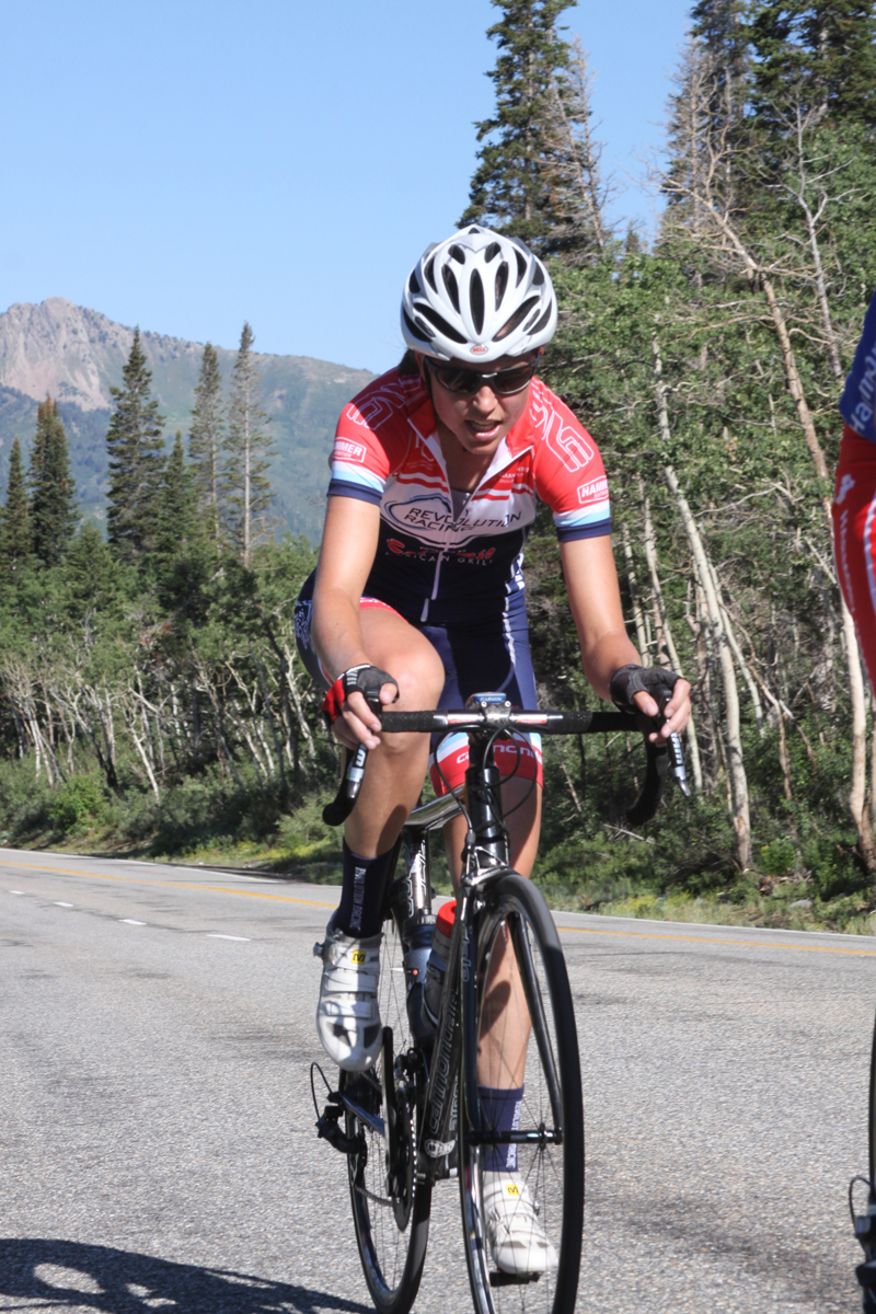 Anne Perry won the women's pro/1/3 category. - Porcupine Hillclimb 2012