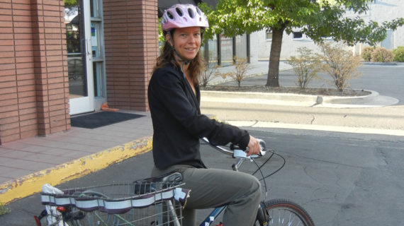 Jane Paine Rides to Work, the Gym, and on Bike-A-Dates