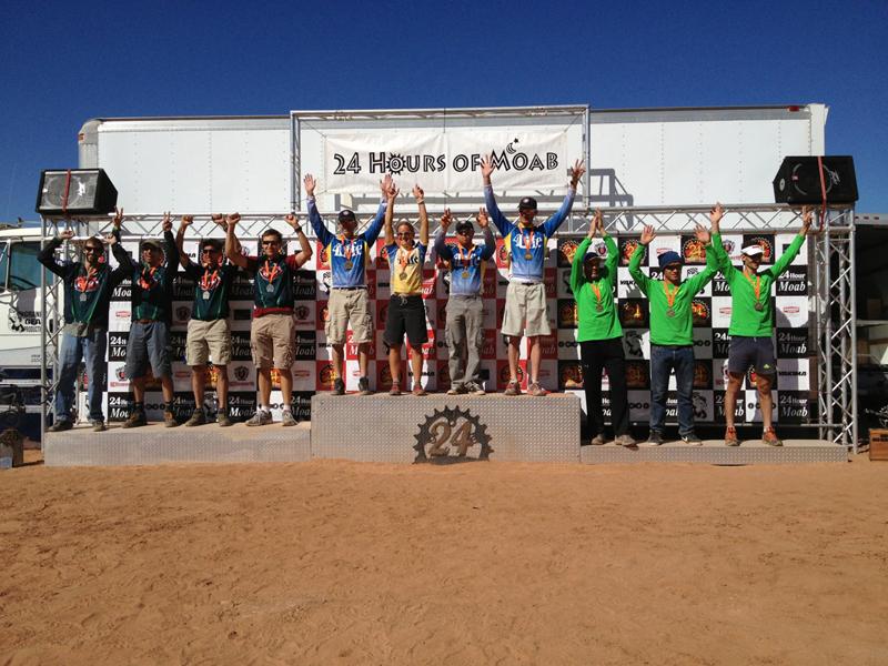 Last Podium 2012 24 hours of Moab
