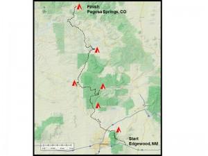 NM bicycle tour map