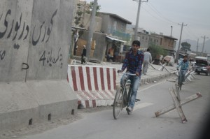 Bike lane in Kabul.