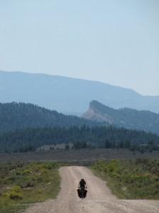 Desolation near the boundary of the Jicarilla Apache Reservation.