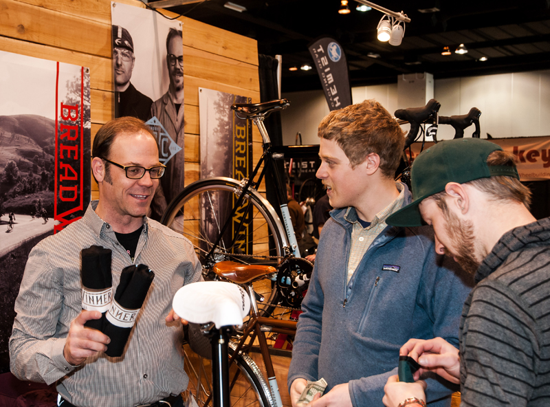 Tony Pereira (left) launched Breadwinner at the NAHBS.
