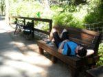 Lunch on bike trail near Tahoe City