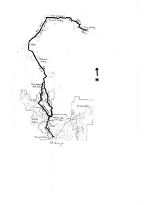 Map of Dixie Legacy Classic Road Bike Route.