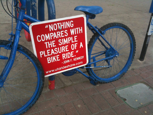 Nothing Compares to the Simple Joy of a Bike Ride - John F. Kennedy