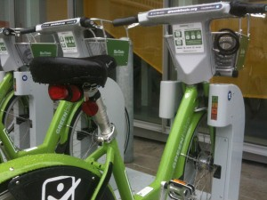There are 70 new GreenBikes and 10 kiosks in downtown Salt Lake City. Photo: Dave Iltis