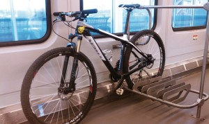 bike rack on train