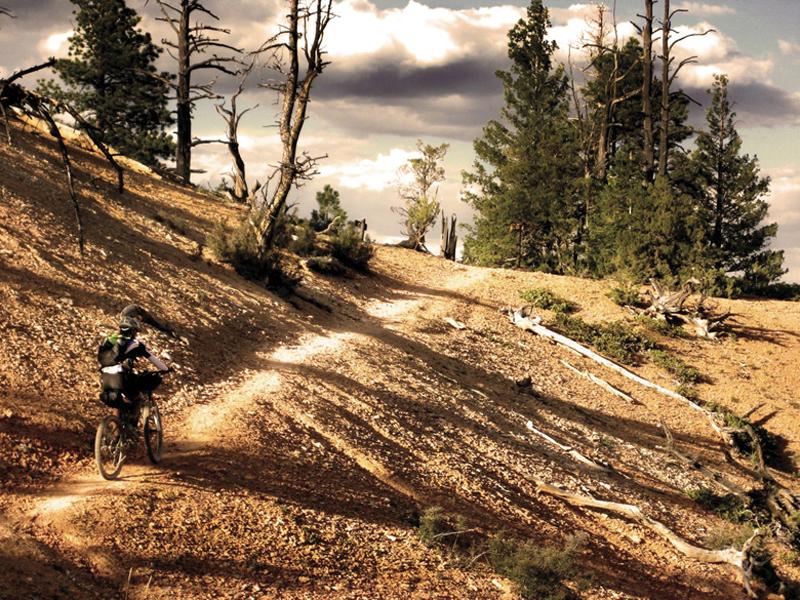 Lynda Wallenfels climbs the Chimney Rock Trail near Tropic Reservoir.