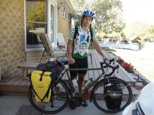 Oregon bicycle tourist in Salt Lake City Utah