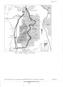Mt Nebo bicycle map